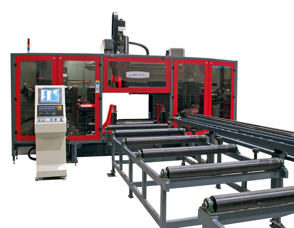 Structural Steel Solutions Akyapak 3ADM CNC Drilling Marking Cutting Line